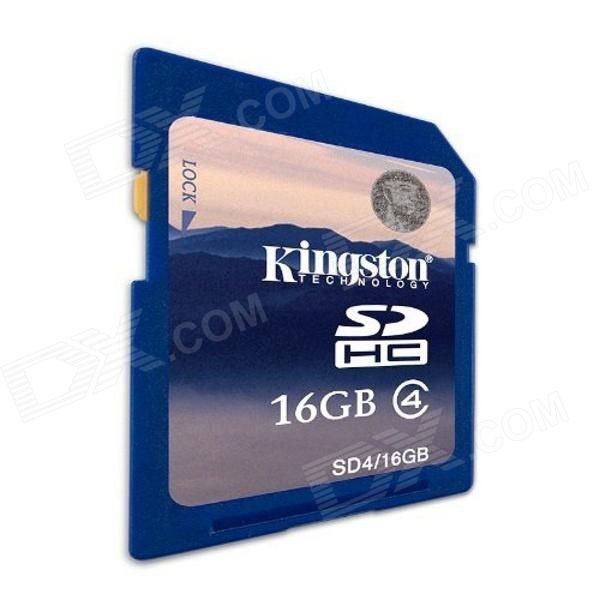Tarjeta de memoria flash Kingston SD4 / 16GB 16GB clase 4 SDHC