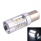 1156 BA15S 80W 600LM 6500K 16-SMD LED White Light Steering Backup Lamp for Car (DC12~24V)