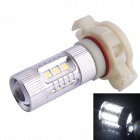 H16 80W 600LM 6500K 12-Samsung SMD White Light LED Foglight Headlamp for Car (DC12~24V)