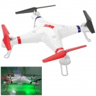 WLtoys V353 2.4GHz 4-CH Outdoor Radio Control 3D Tumbling UFO Quadcopter w/ Gyro - White + Red