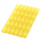 ABS + Gold Plated RJ45 8P8C Network Modular Plug Connector - Yellow (30PCS)