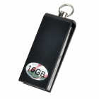 Mini Aluminum USB 2.0 Flash Drive - Black (16GB)