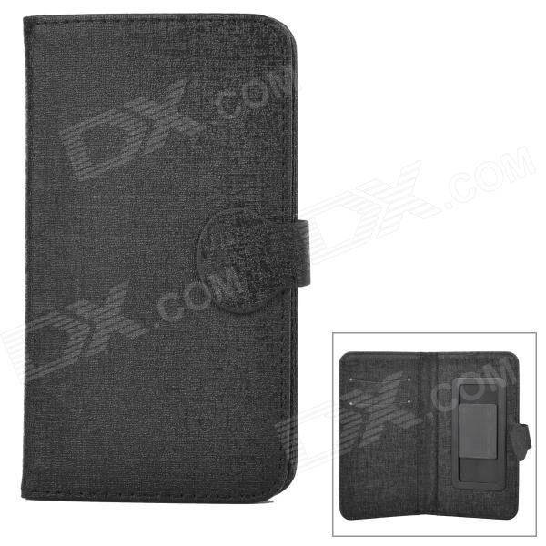 Universal Protective Flip Open PU Case Cover w/ Card Slot for 5.3