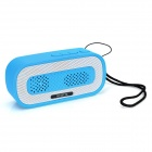HY HY-BT74 Bluetooth V2.0 Speaker w/ 3.5mm / USB 2.0 / Microphone / FM / TF - Blue + White