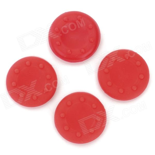 4-in-1 Anti-Slip Silicone Cover for PS2 / PS3 / PS3 Slim / PS4 / XBOX360 / XBOX ONE - Red (4 PCS) 5 in 1 wired karaoke microphone set for ps3 ps2 pc wii xbox 360 black 2 pcs