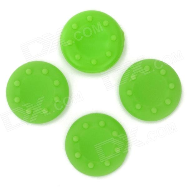 4-in-1 Anti-Slip Silicone Cover for PS2 / PS3 / PS3 Slim / PS4 / XBOX360 / XBOX ONE - Green (4 PCS) 5 in 1 wired karaoke microphone set for ps3 ps2 pc wii xbox 360 black 2 pcs