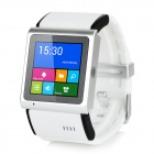 "EC309 1.54 ""Screen 3G Bluetooth V4.0 MTK6577 WCDMA / GSM-Smart-Armbanduhr-Telefon - White + Black"