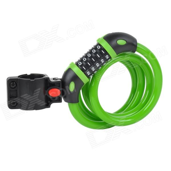 TONYON TY566 Universal 5-Digit Password Security Anti-Theft Bicycle Bike Lock - Green trelock bicycle cable lock bike steel locks biking bicycle lock anti theft security level 3 cycling locks bicycle accessories
