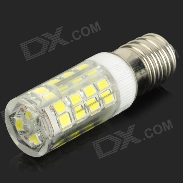 HH37-1 E14 3.5W 330lm 6000K 51-SMD 2835 LED White Light Bulb - White + Transparent (AC 220~240V)