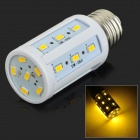 JRLED E27 5W 350lm 3300K 24-SMD LED 5730 Warm White Light Bulb - Weiß + Silber (AC 220 ~ 240V)