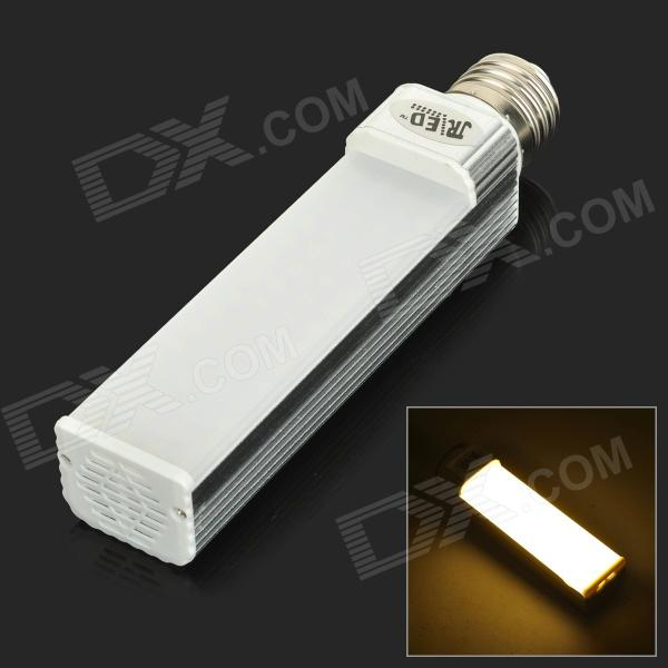 JRLED E27 13W 1000lm 3300K 60-SMD 2835 LED Branco Quente Horizontal Lamp - Silver (AC 85 ~ 265V)