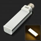 JRLED E27 13W 1000lm 3300K 60-SMD 2835 LED Warm White Horizontal Lamp - Silver (AC 85~265V)