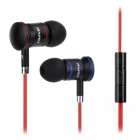 AWEI S150vi In-ear Earphone w/ Mic / Volume Adjustment for Samsung Cellphone - Black + Red