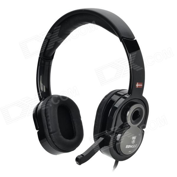 Bingle B831 Gaming Stereo Headset / Headphones w/ Mic. / Volume Control - Black