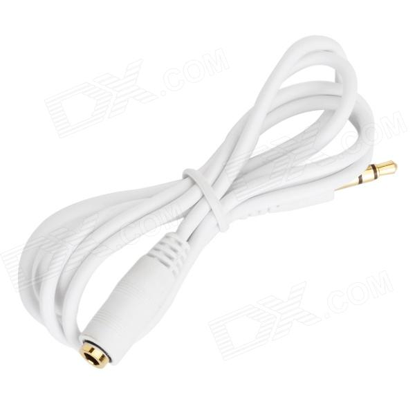 3.5mm macho a hembra Cable de adaptación Audio para IPHONE / IPAD / IPOD - blanco