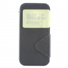 Protective PU + TPU Back Case w/ Stand / Strap / Card Slots for HTC ONE M8 - Black