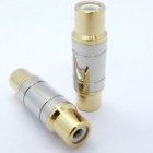 Copper RCA Female to Female Adapter - Golden (2 PCS)