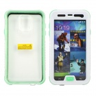 Profesional impermeable buceo Protetcive Full Body caso para Samsung Galaxy S5 - blanco + transparente