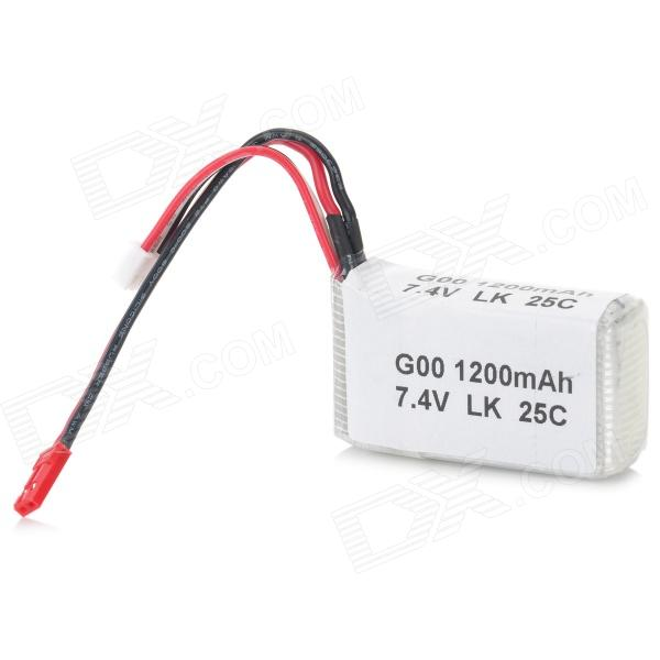WLtoys A949-27 7.4V 1200mAh Li-polymer Battery for A949 / A959 / A969 / A979 R/C Car - Silver