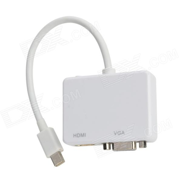 Mini DisplayPort to HDMI / VGA Adapter - White (18cm-Cable) 1pcs mini displayport display port dp to vga adapter cable for apple for macbook air pro imac mac mini adapter cable white