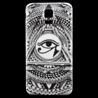 Eye Pattern Back Frame Back Case for Samsung Galaxy S5 - White + Black