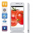 "G2  MTK6572 Dual-Core Android 4.2.2 WCDMA Bar Phone w/4.5"" IPS, 4GB ROM, GPS, FM - White"