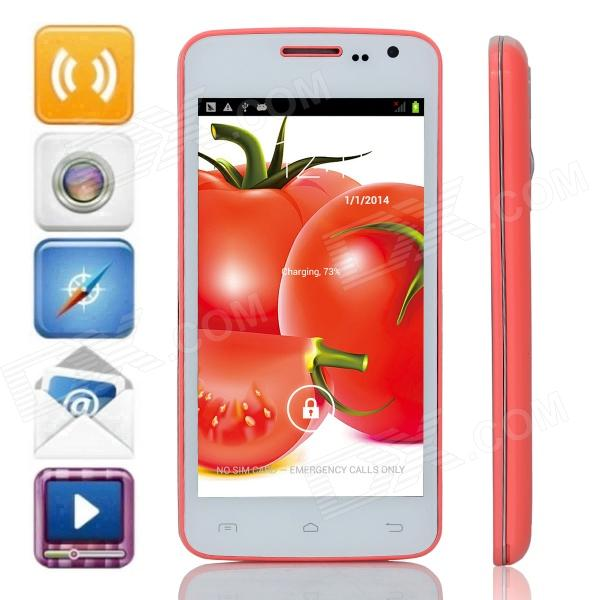 G2  MTK6572 Dual-Core Android 4.2.2 WCDMA Bar Phone w/ 4.5 IPS, 4GB ROM, GPS, FM - Red + White