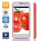 "G2  MTK6572 Dual-Core Android 4.2.2 WCDMA Bar Phone w/ 4.5"" IPS, 4GB ROM, GPS, FM - Red + White"