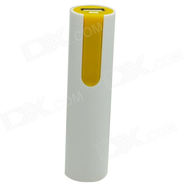 ODEM JY-109 Universal 5V 1500mAh Li-ion Battery Power Bank - White + Yellow