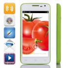 "G2 MTK6572 Dual-Core Android 4.2.2 WCDMA Bar Phone w/4.5"" IPS, 4GB ROM, GPS, FM - Green + White"