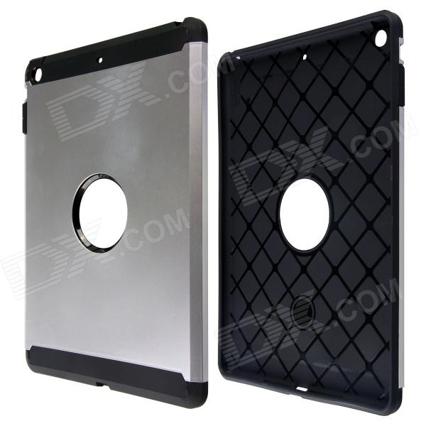 цены на PC and Silicone Hybrid Patchwork Tough Armor Case with Air Cushion Tech for IPAD AIR - Silver