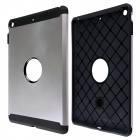 PC and Silicone Hybrid Patchwork Tough Armor Case with Air Cushion Tech for IPAD AIR - Silver