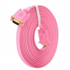 15-Pin VGA Male to Male Connecting Cable - Pink (500cm)