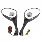 DG002 Rearview Mirror MP3 Player Speaker w/ FM / SD Card Slot for Scooter / Cub-type Motorcycle