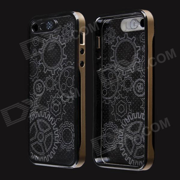 Sun Pattern LED Flash Light Protective ABS Hard Case for IPHONE 5 / 5S quote turn your face to the sun metal coated hard case cover for iphone se 5s 5