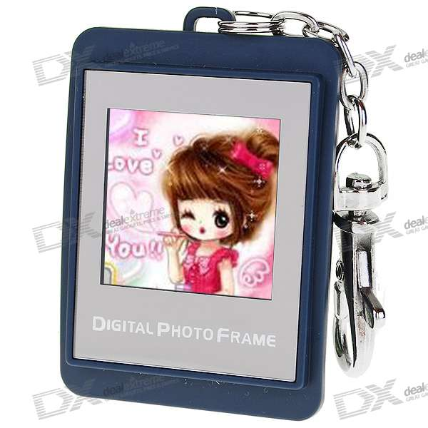 "1.5"""" LCD Rechargeable Digital USB Photo Frame Keychain with 8M Memory for 140 Photos (Smalt)"