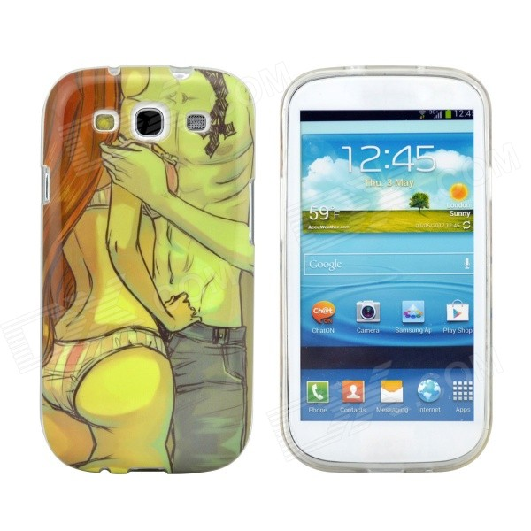 Sexy Lovers Design Pattern Protective TPU Back Case Cover for Samsung Galaxy S3 i9300 wsb s3 samsung s3 i9300 sam896 for samsung s3 i9300