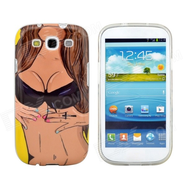 Sexy Girl Design Pattern Protective TPU Back Case Cover for Samsung Galaxy S3 i9300 wsb s3 samsung s3 i9300 sam896 for samsung s3 i9300