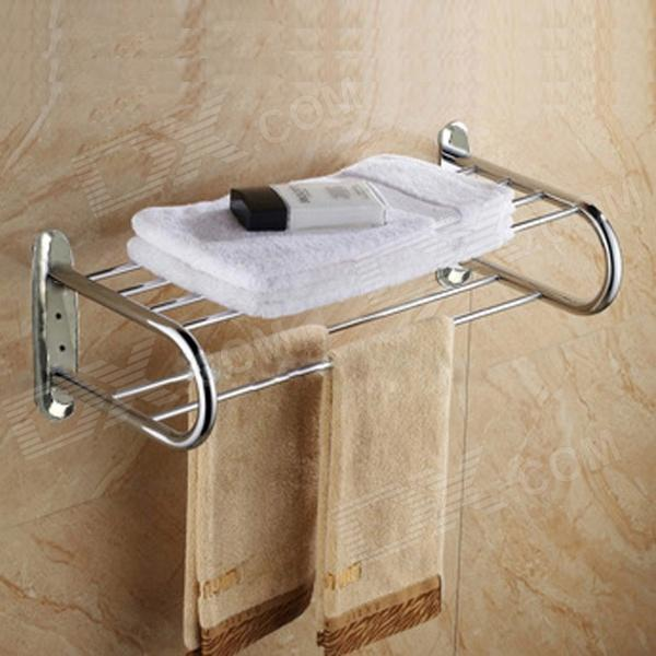 6-Bar Stainless Steel Bathroom Towel Rack - Silver 1 roll stainless steel woven wire cloth screen filter 120 mesh 125 micron 30x90cm with corrosion resistance