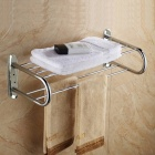 6-Bar Stainless Steel Bathroom Towel Rack - Silver