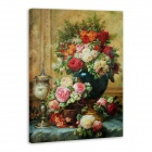 "Iarts DX0716-06 Printing + Hand-painted ""Vase w/ Flowers"" Oil Painting - Red + Green (40 x 60cm)"