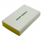 Portable Universal Dula USB 5V 6000mAh Li-ion Battery Power Bank - White + Yellow