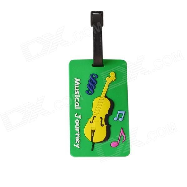 DEDO MG-151 Silicone Music Violin Style Baggage Tag - Green 100pcs diy kraft paper tags brown lace scallop head label luggage wedding note blank price hang tag kraft gift 5x3cm