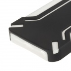 Protective Silicone Back Case of IPHONE 5 - Black + White