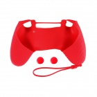A-M09 Anti-Slip Silicone Case + Button Cap Set for PS4 Controller - Red