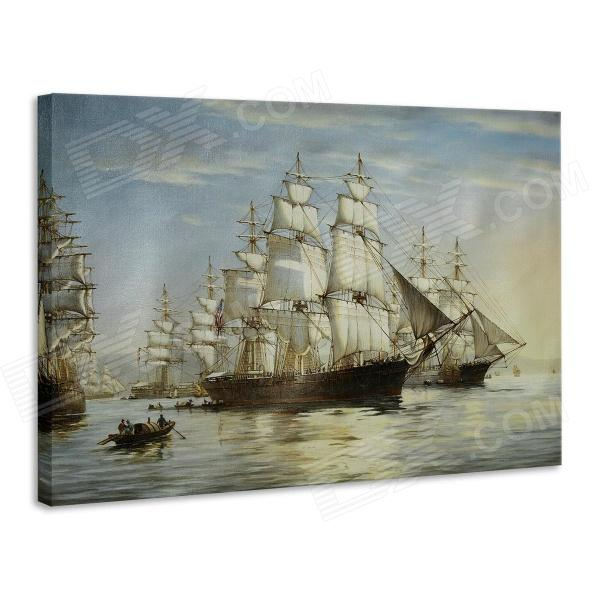 Iarts DX0721-07 Printing + Hand-painted Sailing at Sea Oil Painting - White (40 x 50cm) painted by a distant hand – mimbres pottery of the american southwest