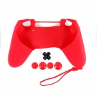 A-M011 Protective Silicone Case + Rocker Cap + Cross + Key Cap for PS4 Controller