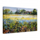 "Iarts DX-071605 Printing + Hand-painted ""Famous Country Field"" Oil Painting - Green (40 x 50cm)"