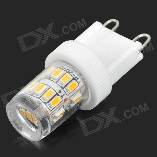 HH39 G9 2W 180lm 3200K 27-SMD 3014 LED Warm White Light Bulb - White + Transparent (AC 200~240V)