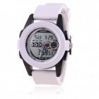 OHSEN 30M Water Resistant Digital + Quartz Movement Sports Wristwatch - White (1 x 377)